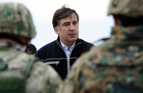 رئیس جمهور ساکاشویلی در جمع سربازان گرجی در افغانستان