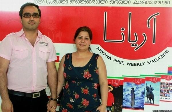 سارا قاضی و همسرش (مصطفی صدیقی)