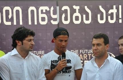 'کریستیانو رونالدو' در تفلیس