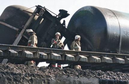 وقوع حادثه در راه آهن گرجستان