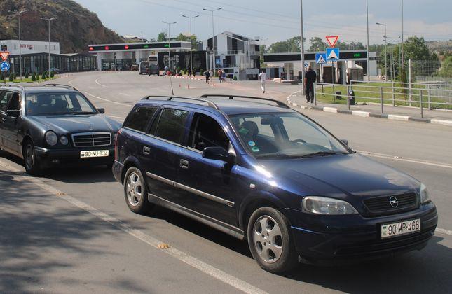مرز ورودی به گرجستان از جمهوری آذربایجان