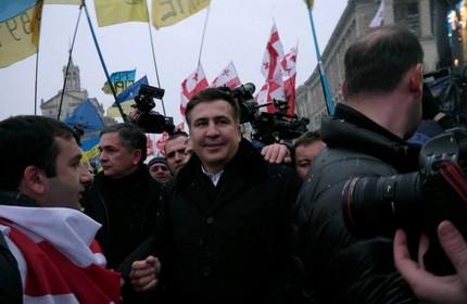 میخاییل ساکاشویلی در کیف، پایتخت اوکراین