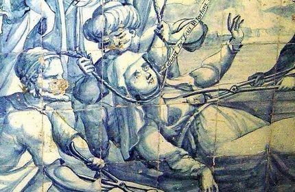 صحنه قتل ملکه کتوان توسط ماموران شاه عباس