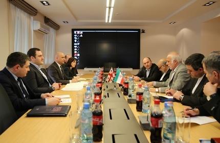 دیدار ابراهیم رحیم پور، معاون وزیر امور خارجه ایران با الکساندر چیکایدزه، وزیر کشور گرجستان