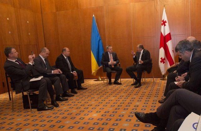 دیدار وزیر امور خارجه اوکراین با رئیس جمهور گرجستان