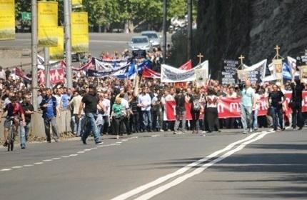 برگزاری راهپیمایی مخالفان حقوق همجنسگرایان در تفلیس