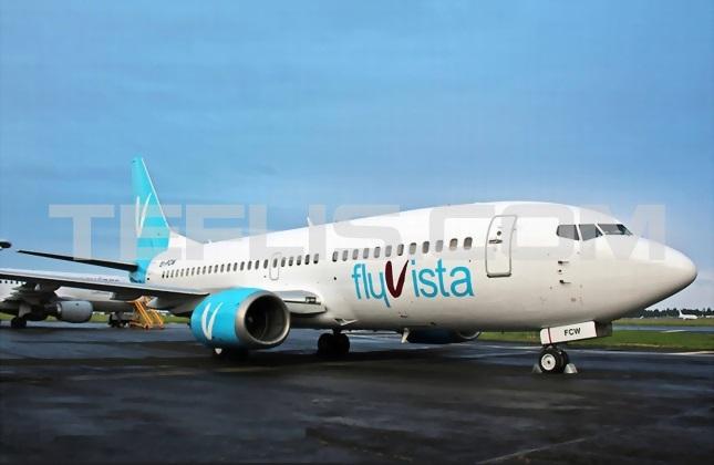 بوئینگ 737 هواپیمایی 'فلای ویستا' گرجستان