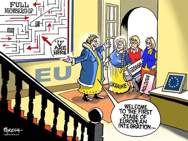 مسیر دشوار گرجستان، اوکراین و مولداوی در اتحادیه اروپا / کاریکاتور