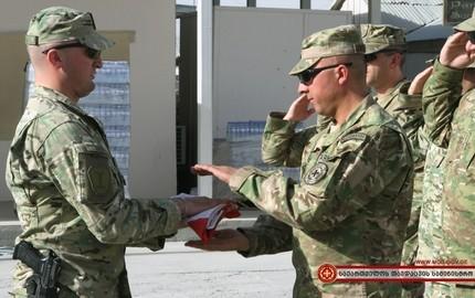 خروج سربازان تیپ 13 پیاده نظام ارتش گرجستان از افغانستان