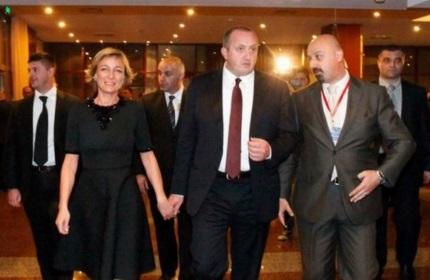 گیورگی مارگولاشویلی، رئیس جمهور گرجستان و همسرش، ماکا چیچوآ