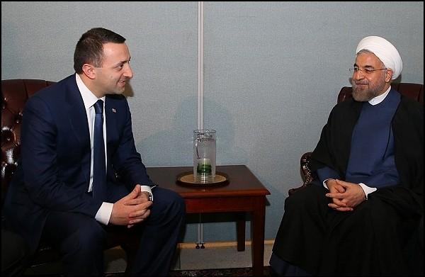 دیدار رییس جمهور ایران و نخست وزیر گرجستان در نیویورک