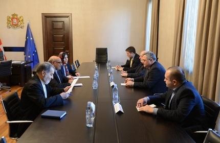 دیدار مجدد سفیر ایران با رئیس پارلمان گرجستان