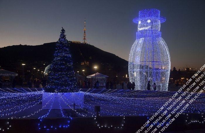 آمادگی تفلیس برای جشن های سال نو و کریسمس