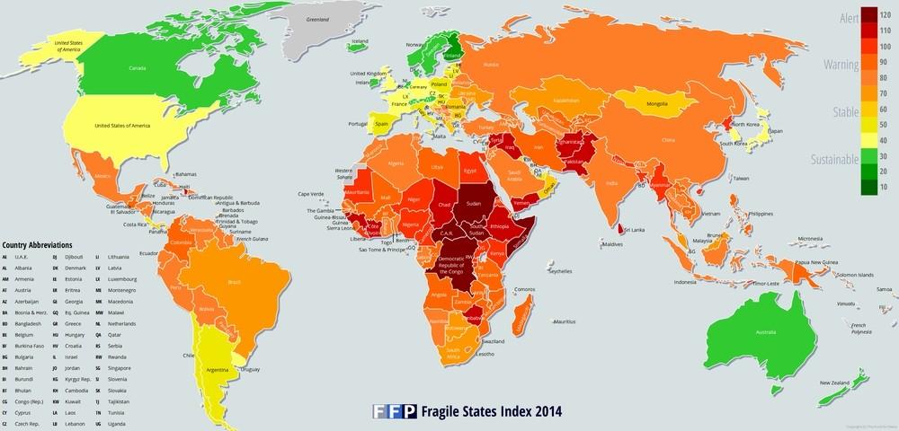 گرجستان آسیب پذیرترین کشور اروپا