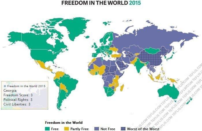 گرجستان، آزادترین کشور حوزه قفقاز
