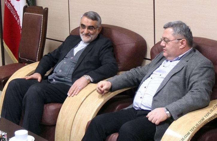 ورود رئیس پارلمان گرجستان به ایران