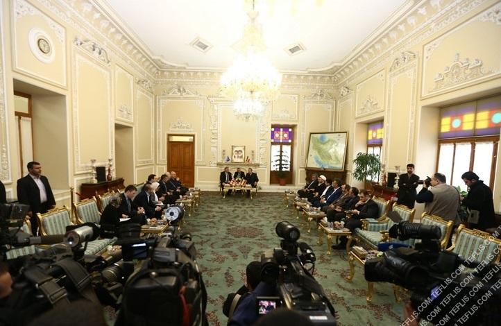 دیدار روسای پارلمان گرجستان و ایران