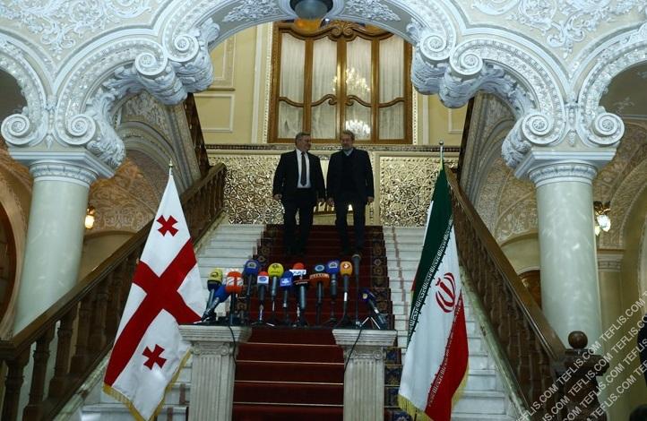دیدار روسای مجلس گرجستان و ایران