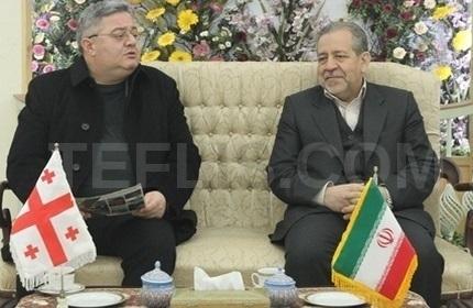 رسول زرگر پور، استاندار اصفهان (راست) و داویت اوسوپاشویلی، رئیس پارلمان گرجستان (چپ)