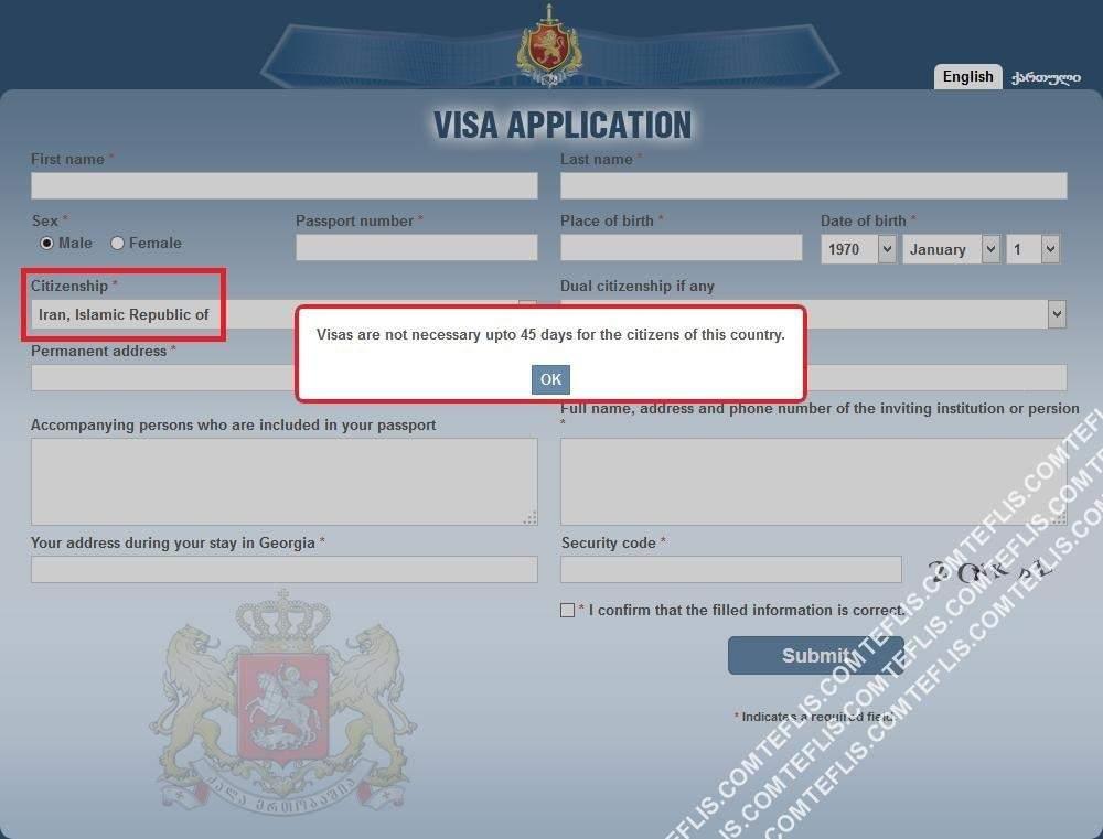 تکذیب راه اندازی سیستم صدور ویزای الکترونیکی گرجستان