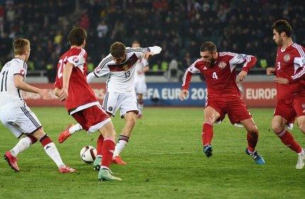 شکست تیم ملی فوتبال گرجستان در مقابل آلمان