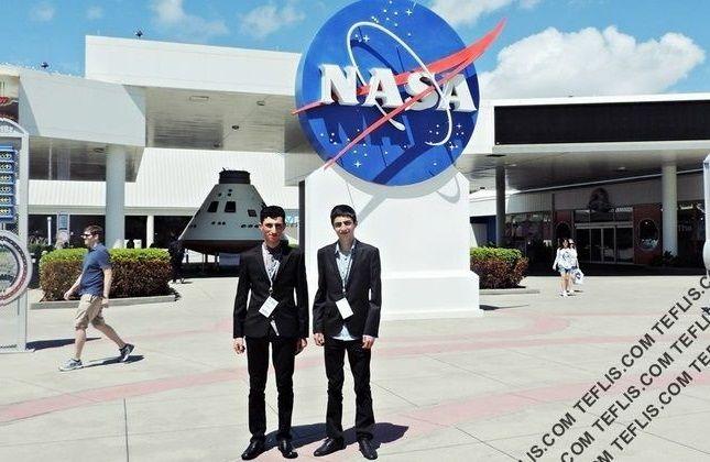 حضور نوجوانان گرجی در سازمان فضایی آمریکا