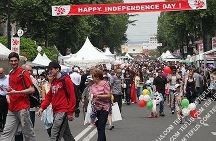 گرجستان در روز استقلال