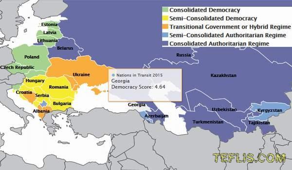 بهبود وضعیت دموکراسی در گرجستان