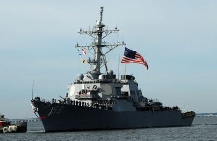 ورود یک ناوشکن ارتش آمریکا به آب های گرجستان در دریای سیاه
