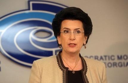 نینو بورجانادزه، رهبر جنبش دموکراتیک گرجستان