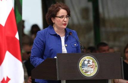 تینا خیداشلی، وزیر دفاع گرجستان