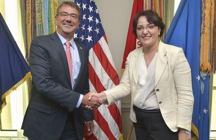 دیدار وزرای دفاع گرجستان و آمریکا در پنتاگون