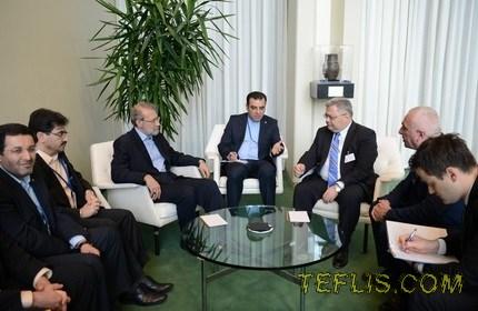 دیدار روسای پارلمان گرجستان و ایران، در حاشیه چهارمین اجلاس سران کشورهای جهان در سازمان ملل متحد