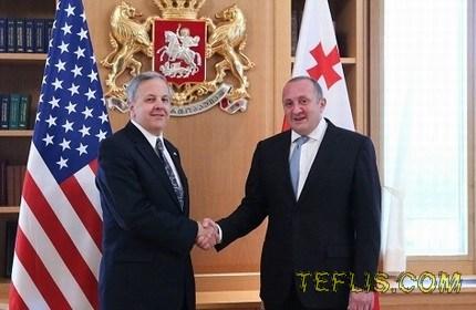 دیدار رئیس جمهور گرجستان با سفیر جدید آمریکا در تفلیس