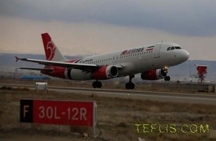 احتمال برقراری مجدد پرواز میان گرجستان و ایران توسط هواپیمایی آتا