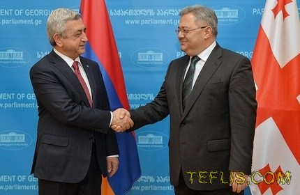 سفر رئیس جمهور ارمنستان به گرجستان