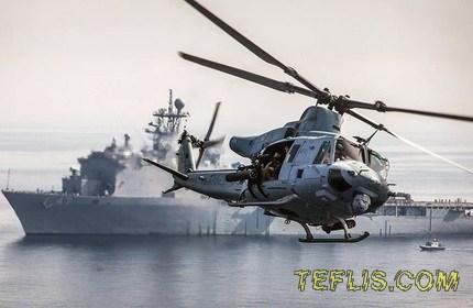 اعطای دو فروند هلیکوپتر به گرجستان توسط آمریکا