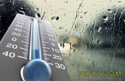 پیشبینی کاهش دما و بارش باران در گرجستان