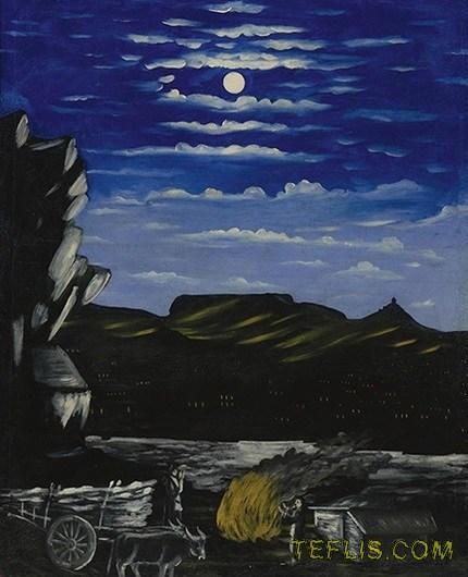 اهدای یکی از نقاشی های ' نیکو پیروسمانی ' به موزه ملی گرجستان