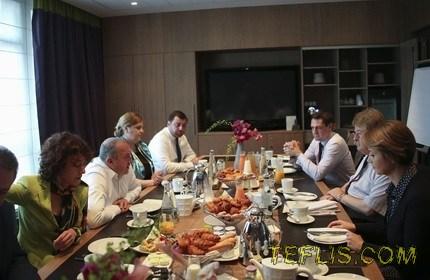 دیدار رییس جمهور گرجستان با رییس کمیته روابط خارجی پارلمان اروپا