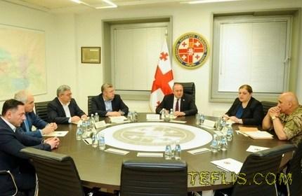 تشکیل جلسه شورای عالی امنیت ملی گرجستان در پی کودتای نظامی نافرجام در ترکیه