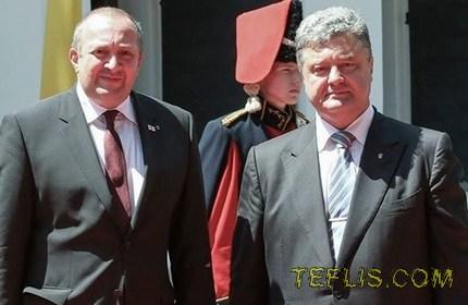 تبریک روز استقلال اوکراین توسط رییس جمهور گرجستان